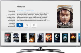 MauTV OTT White-label for Apple TV – movie detail
