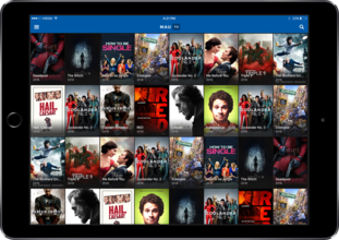 MauTV OTT White-label for iOS – home screen on iPad