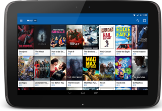 MauTV OTT White-label for Android – home screen on tablet