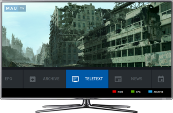 MauTV OTT White-label for HbbTV – menu