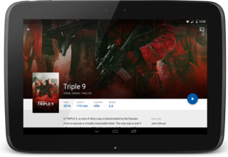 MauTV OTT White-label for Android – movie detail 1 on tablet