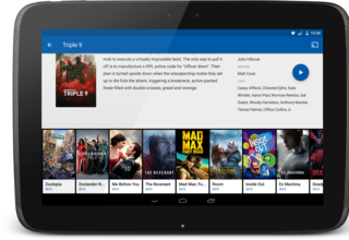 MauTV OTT White-label for Android – movie detail 2 on tablet