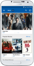 MauTV OTT White-label for Android – categories