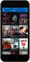 MauTV OTT White-label for iOS – home screen