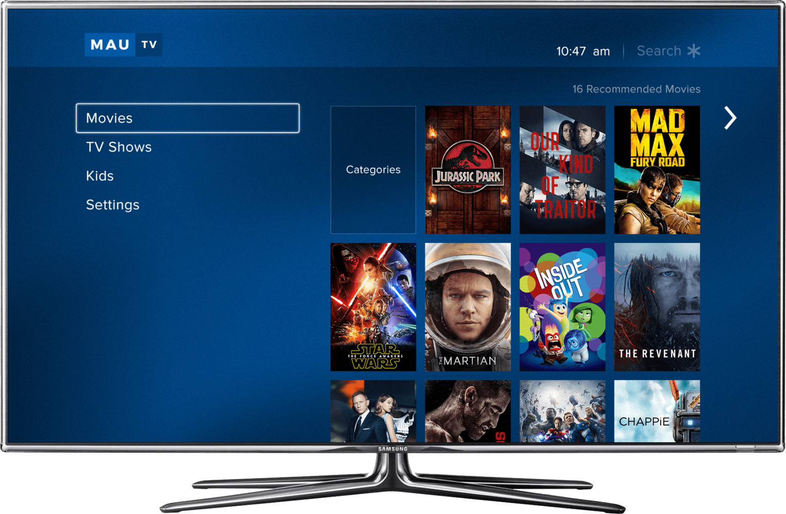 MauTV OTT White-label for Roku – homepage