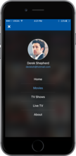 MauTV OTT White-label for iOS – menu