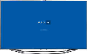 MauTV OTT white-label pro Smart TV – loading screen