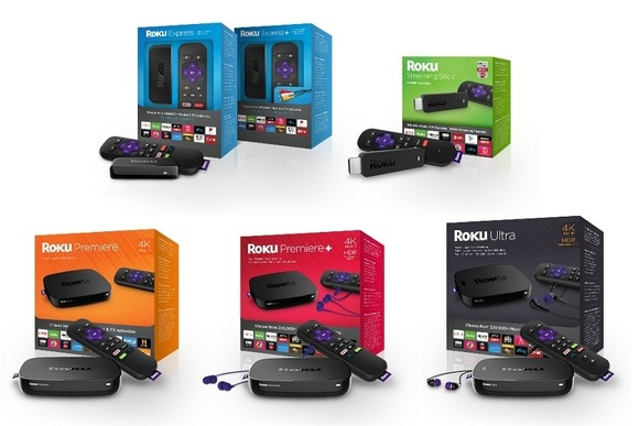 All Roku streaming devices